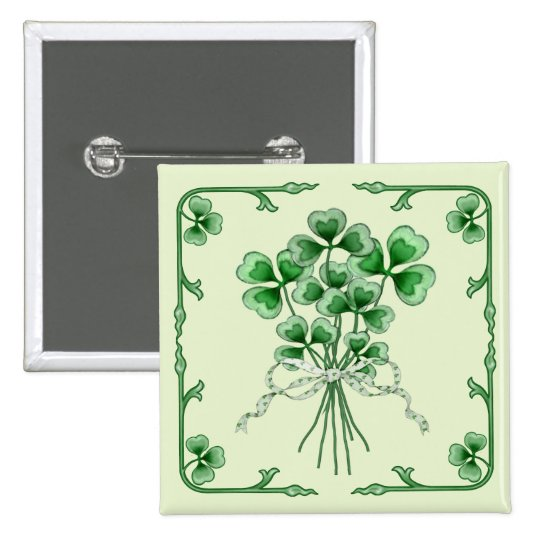 Shamrock Bouquet 2 Button