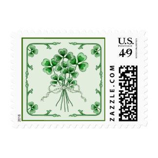 Shamrock Bouquet 2 Postage Stamp