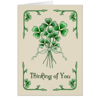 Shamrock Bouquet Greeting Cards
