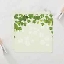 Shamrock bouquet, st patrick's day card