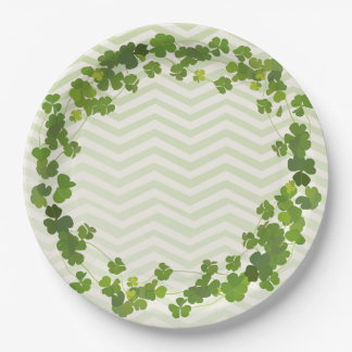 Shamrock bouquet, st patrick's day paper plate