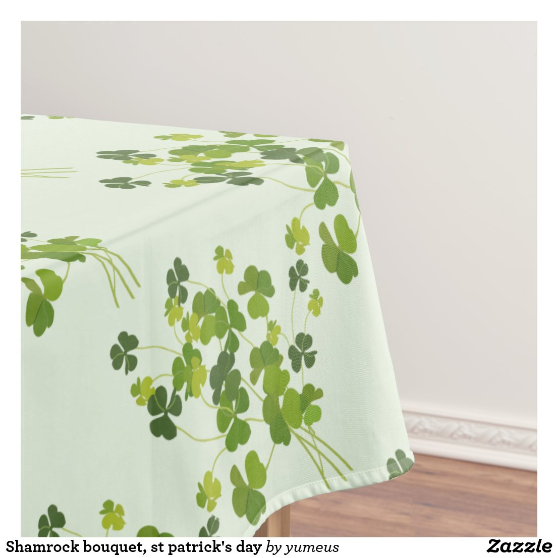 Shamrock bouquet, st patrick's day tablecloth