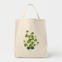 Shamrock bouquet, st patrick's day tote bag