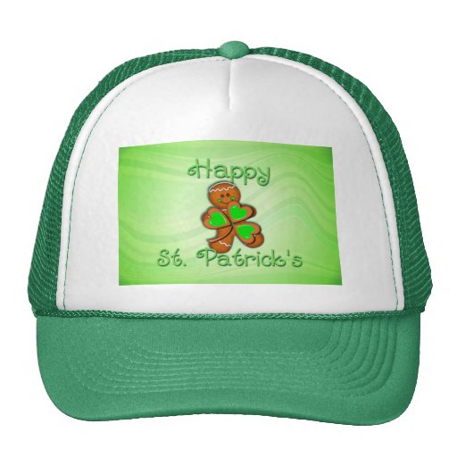SHAMROCK BOY HAPPY ST. PATRICKS by SHARON SHARPE Mesh Hats