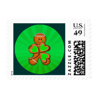 SHAMROCK BOY & LIGHT RAYS by SHARON SHARPE Postage Stamps