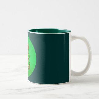 SHAMROCK BOY & LIGHT RAYS by SHARON SHARPE Two-Tone Coffee Mug