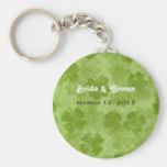 Shamrock Bride & Groom Keychain
