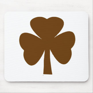 Shamrock Brown The MUSEUM Zazzle Gifts Mouse Pad