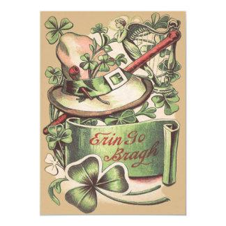 Shamrock Buckle Hat Pipe Shillelagh Card