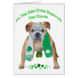 Shamrock Bulldog St. Patrick's Day Cards