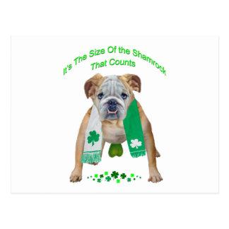 Shamrock Bulldog St. Patrick's Day Postcard