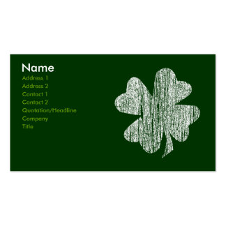 Shamrock Business Cards