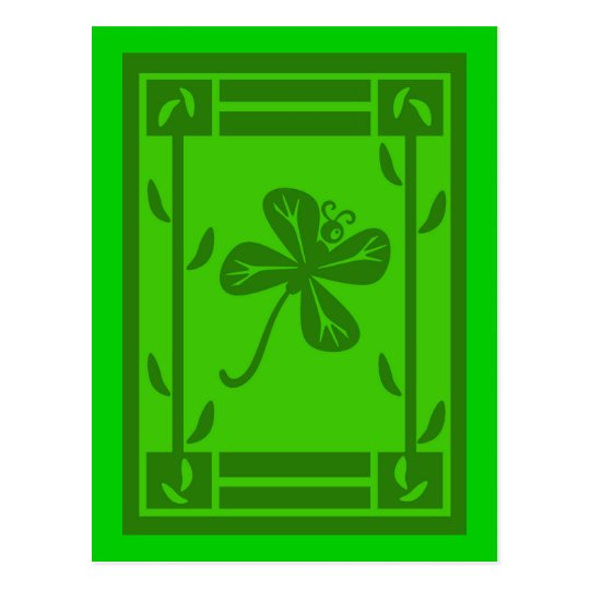 Shamrock Butterfly St Patricks Day Postcard