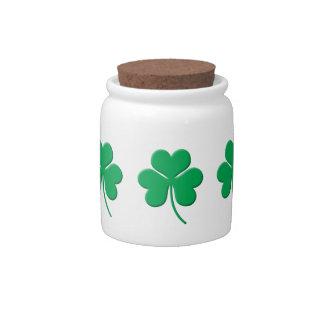 Shamrock Candy Jar