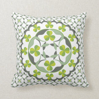 Shamrock Celtic Inspired Pattern St. Patrick's Day Throw Pillow