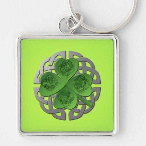 Shamrock – Celtic Knot – 4 Evangelists Key Chains