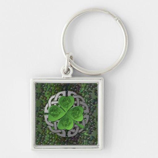 Shamrock – Celtic Knot – 4 Evangelists Keychains