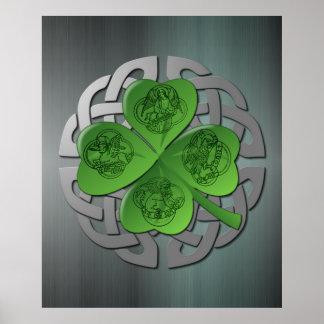 Shamrock - Celtic Knot - 4 Evangelists Poster