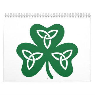 Shamrock celtic knot calendar
