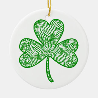 Shamrock Ceramic Ornament