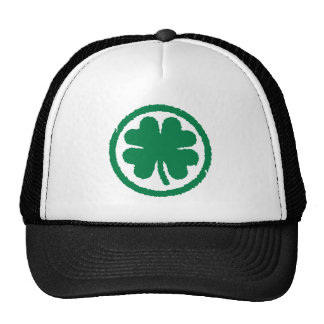 Shamrock circle trucker hat