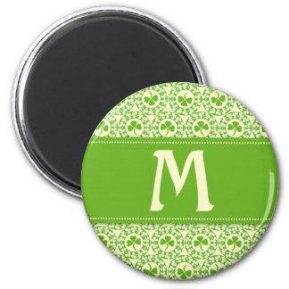 Shamrock Circles Monogram A Magnet