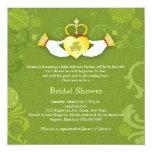 Shamrock Claddagh Heart Irish Bridal Shower Card