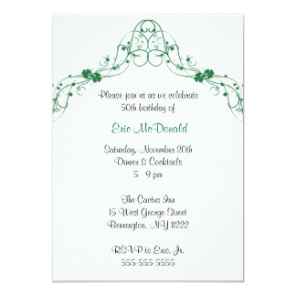 Shamrock Clover Arch Birthday Party Invitation