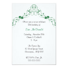 Shamrock Clover Arch Birthday Party Invitation at Zazzle