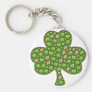 Shamrock Clover Beer St. Patrick's Day, Patty's Keychain