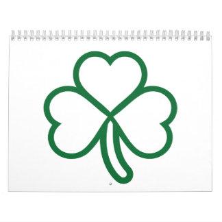 Shamrock clover calendar