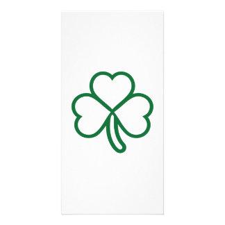 Shamrock clover card