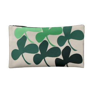 Shamrock clover cosmetic bag