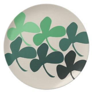 Shamrock clover dinner plate