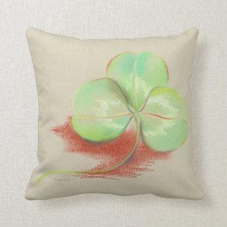 Shamrock Clover Pastel Drawing Pillows