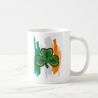 shamrock clover, shamrock clover classic white coffee mug