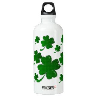 - Shamrock Clovers Aluminum Water Bottle