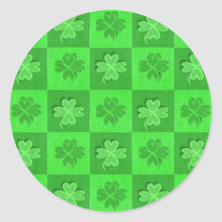 Shamrock Clovers Classic Round Sticker