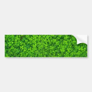 Shamrock Clovers Green Irish Symbol Ireland Bumper Sticker