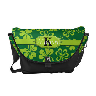 Shamrock Clovers & Horseshoes Messenger Bag