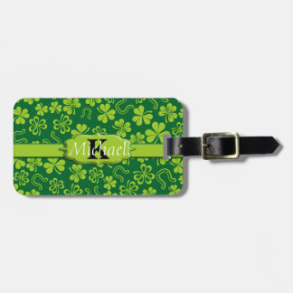 Shamrock Clovers & Horseshoes Tag For Bags