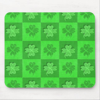 Shamrock Clovers Mouse Pad