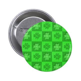 Shamrock Clovers Pinback Button