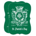 Shamrock Coat of Arm St. Patrick's Day Invitations