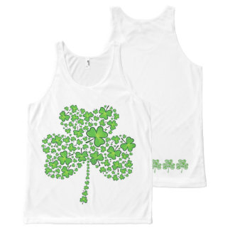 Shamrock Collage All-Over Print Tank Top