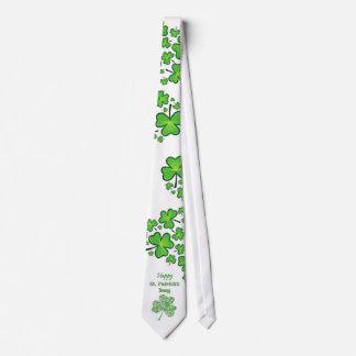 Shamrock Collage Happy St. Patrick's Day Neck Tie