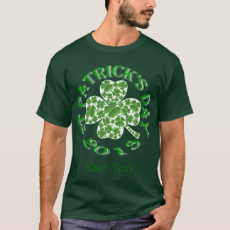 Shamrock collage  St Patrick's day T-Shirt