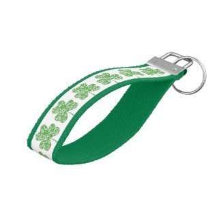 Shamrock Collage Wrist Keychain
