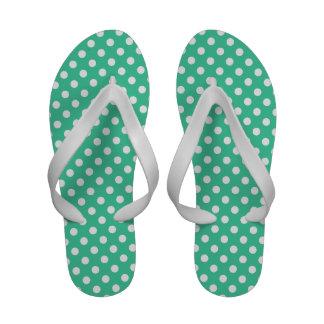 Shamrock Colored Polka Dots Designer Sandals