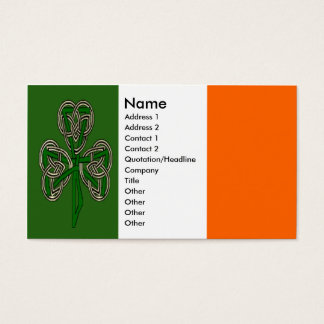 Shamrock Cross Knot Business Cards